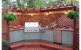 fabriquer cuisine exterieure organisation décoration cuisine exterieure