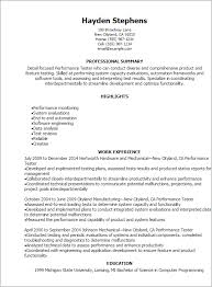 Testing Tools Resume For Experienced Testing Resume Sample Resume Samples And Resume Help