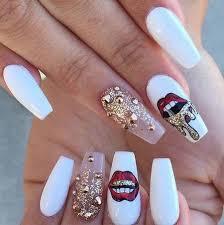 long fake nail design nail art pinterest pretty nail designs