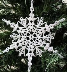 sparkly crochet snowflake ornament allfreechristmascrafts