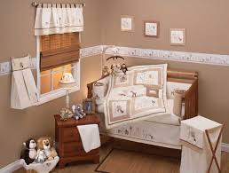 Deer Crib Sheets Bedroom Neutral Baby Bedding Sets Features Brown Wooden Baby Crib