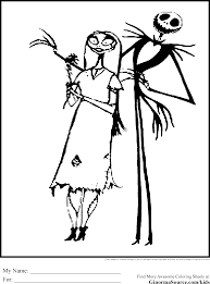 coloring pages skellington coloring pages