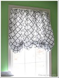 Easy No Sew Curtains In An Instant No Sew Window Treatment In My Own Style