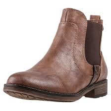 womens chelsea boots uk mustang ankle boot womens chelsea boots chestnut shoes ebay