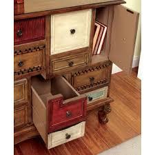 Multi Drawer Storage Cabinet Furniture Of America Antique Walnut Kitoki Multi Drawer Storage Chest