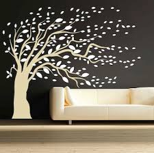 blowing tree wall design trendy wall designs