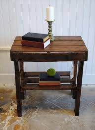 Make A Small End Table by Make Your Own Pallet End Table Wooden Pallet Furniture Maybe A