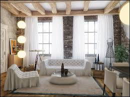 White Ceiling Beams Decorative by Overwhelming Huge Loft Living Room Design Inspiration Shows Divine