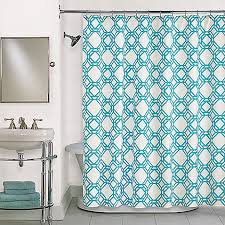 blue shower curtain in blue bed bath beyond home