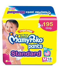 mamypoko standard pant style diapers medium 18 pieces online in