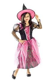 Witch Halloween Costumes Girls Amazon Witch Costume Girls Black Light Pink Small