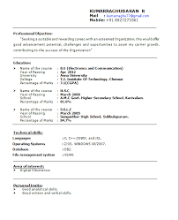 resume format for fresher resume format of fresher jcmanagement co