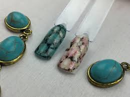 turquoise gemstone marble turquoise stone nails using alcohol ink updated