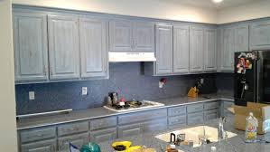 How Do I Refinish Kitchen Cabinets Giving Kitchen Cabinets A Unique Distressed Finish In Oakdale Ca