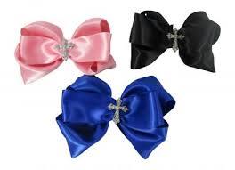 hair bow tie rhinestone embellishment hair bows