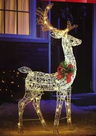 led lighted reindeer decoration rainforest islands ferry