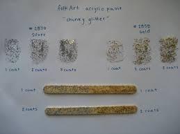 review folk art chunky glitter acrylic paint craft critique