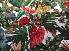 Tropical Upholstery Tropical White Beach Brocade Upholstery Fabric Tropical