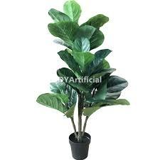 130cm artificial fiddle leaf fig ficus pandurata bush tree with 7