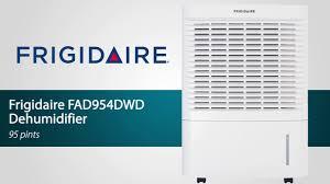 frigidaire fad954dwd 95 pint portable dehumidifier sylvane youtube