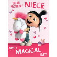 adorable niece agnes u0026 fluffy unicorn minions card minion shop