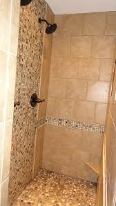 pebble shower floor tile bedrooms tan river rock floor bedrooms