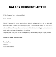 Employment Verification Letter Sle Salary Request Letter Sample Request For Promotion Letter Sample
