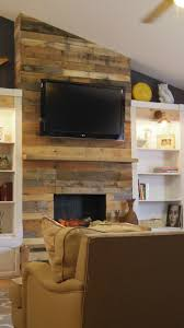 diy pallet wood fireplace addison meadows lane