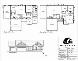 Sample Of Floor Plan For House Millhaven Homes Semi Custom And Custom Floorplans