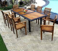 meubles en teck massif ensemble de jardin en teck huilé mobilier de jardin table 3 metres