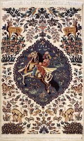 3x6 Rugs 1x5 U00278 Rug Pictorial Hunting Shikargah Handmade Pak Persian