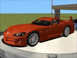 sims 2 car conversion by vovillia corp 2000 dodge viper gts r