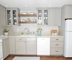 Shelf Over Kitchen Sink by Centsational Gray White Kitchen Remodel