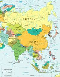 China On World Map by Online Maps Asia Political Map
