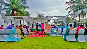 beach wedding decoration at ashok beach resort pondicherry