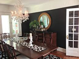 bold black dining room becolorful