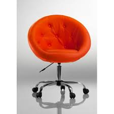 tabouret de bureau à roulettes fauteuil à cuir pu tabouret chaise de bureau orange