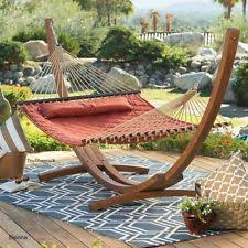 quilted double hammock bed 2 person outdoor hanging patio deck