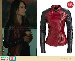 danier leather outlet wornontv cat s and black leather jacket on beauty and the