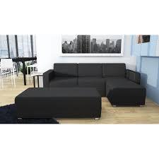 Canap D Angle R Versible Et Convertible Avec Canape D Angle Noir Tissu Maison Design Wiblia Com