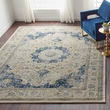 Safavieh Rugs Safavieh Evoke Ivory Blue Rug 8 X 10 Free Shipping Today