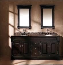 Solid Wood Bathroom Vanities Double Sink Bathroom Vanities European Antique Solid Wood