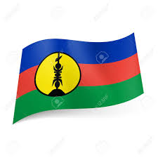 Blue And Black Flag National Flag Of New Caledonia Blue Red And Green Horizontal