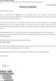bureau veritas hong kong ltd q30 pos terminal cover letter fcc poa pax technology limited