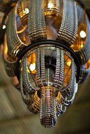 Art Chandelier Cool Upcycling Design Recycled Bicycle Chain Chandeliers