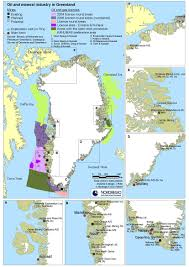 Greenland Map Greenland Sub Surface And Self Government Nordregio