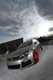 volkswagen silver silver car with red wheels volkswagen golf vi r ecogentleman