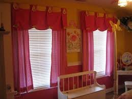 red fabric window valance mixed yellow painted wall with window