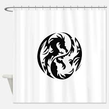 yin yang tribal tattoo shower curtains yin yang tribal tattoo