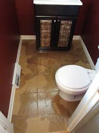 Flooring Bathroom Ideas by Guest Bathroom Paper Bag Floors Hometalk